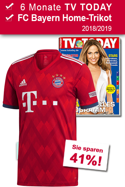 TV TODAY + FC Bayern Home-Trikot 2018-2019