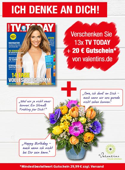 TV TODAY - Valentins Gutschein - Blumengruß