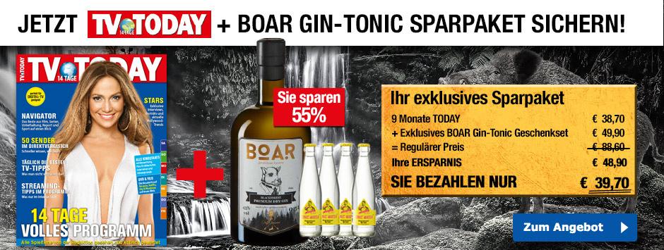 TV TODAY - BOAR Gin-Tonic Geschenkpaket
