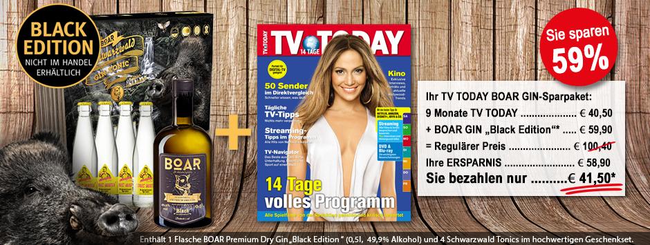 """TV TODAY - BOAR Gin """"Black-Edition"""" Geschenkpaket"""