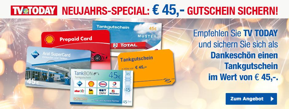 TV TODAY Prämien-Abo mit 45 Euro Tankgutschein Dez 2018