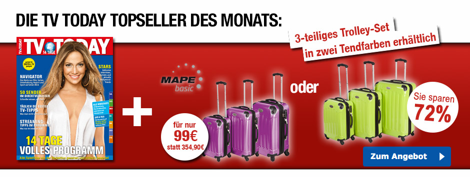 TV TODAY Topseller des Monats - Trolleykofferset