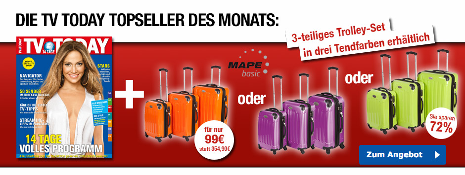 TV TODAY Topseller des Monats - Trolleykofferset