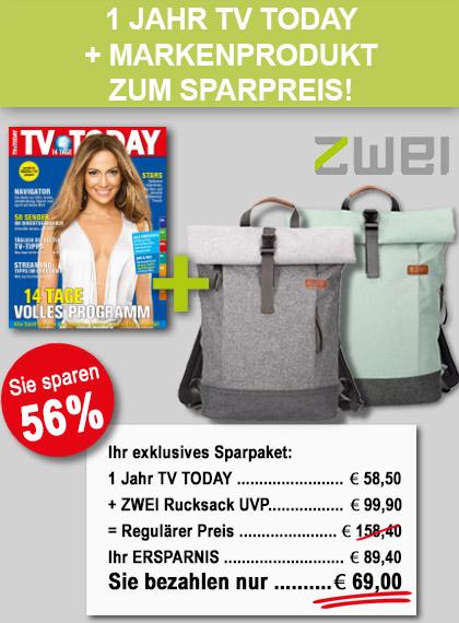 """TV Today- ZWEI Rucksack """"Benno"""" Geschenkpaket"""