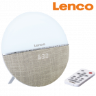 Lenco-Radio-Wecker mit Wake-Up Light
