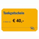 JET-Tankgutscheine im Wert von 40 EUR