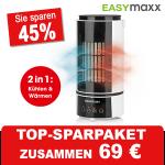 EASYmaxx Klimagerät 2in1 Kühlen und Heizen 800 Watt